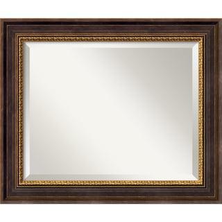 Medium Veneto Distressed Black Framed Mirror