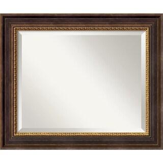 Veneto Distressed Black 25 x 21 Medium Wall Mirror