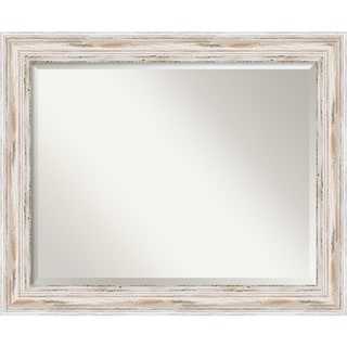 Large Alexandria Whitewash Framed Mirror
