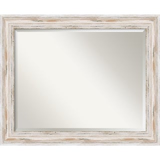 Alexandria Whitewash 33 x 27-inch Large Wall Mirror