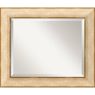 Highland Park Medium Cream 25 x 21-inch Wall Mirror