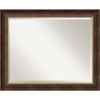 Large Veneto Distressed Black Framed Mirror