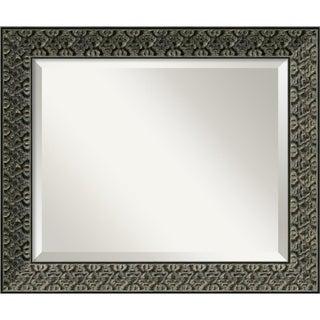 Intaglio Antique Black 24 x 20 Medium Wall Mirror