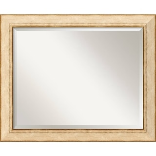 Highland Park Cream 33 x 27 Large Wall Mirror