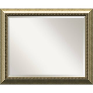 Champagne 33 x 27 Large Wall Mirror