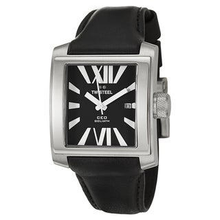 TW Steel Men's 'CEO Goliath' Black/ White Stainless Steel Watch