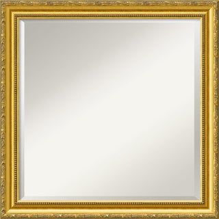 Colonial Embossed Gold 23 x 23 Square Wall Mirror