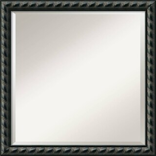 Pequot Black Square Wall Mirror