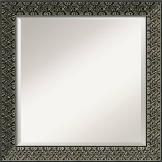 Intaglio Antique Black 24-inch Square Wall Mirror