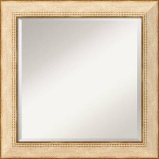 Highland Park Cream 25x25-inch Square Wall Mirror