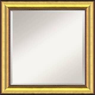 Vegas Burnished Gold 25x25-inch Square Wall Mirror