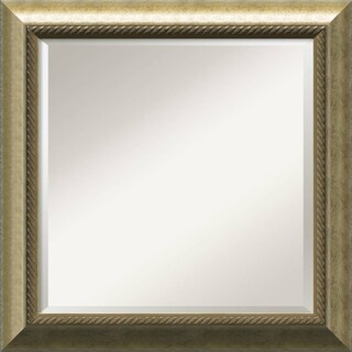 Champagne 25x25-inch Square Framed Wall Mirror