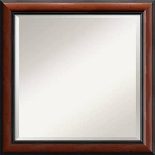 Regency Mahogany 24-inch Square Wall Mirror