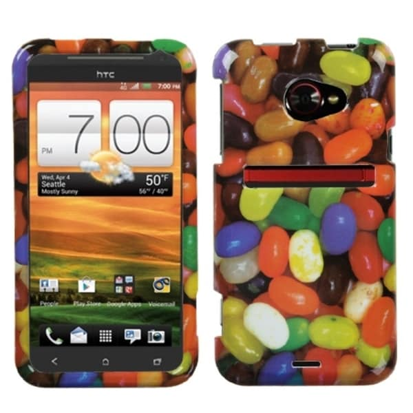 INSTEN Jelly Beans Food Fight Collection Phone Case Cover for HTC EVO 4G LTE