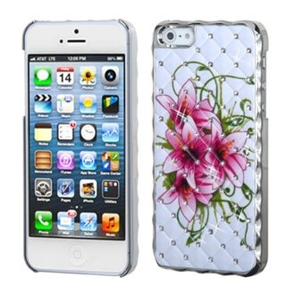 BasAcc Ivory/ White/ Silver Summer Lilies Case for Apple iPhone 5