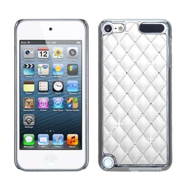 INSTEN Ivory White/ Silver Diamond iPod Case Cover for Apple iPod touch 5
