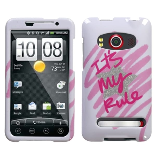 INSTEN It Is My Rule/ Sparkle Phone Case Cover for HTC EVO 4G