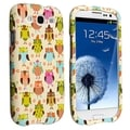 BasAcc Fancy Owls Snap-on Rubber Coated Case for Samsung Galaxy S3