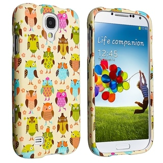 INSTEN Fancy Owls Snap-on Rubber Coated Phone Case Cover for Samsung Galaxy S4