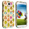 BasAcc Fancy Owls Snap-on Rubber Coated Case for Samsung Galaxy S4