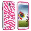BasAcc Hot Pink Skin/ White Zebra Hybrid case for Samsung Galaxy S4