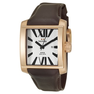 TW Steel Men's 'CEO Goliath' Rose-gold PVD Coated Watch