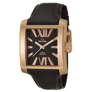TW Steel Men's 'CEO Goliath' Rose-goldplated Steel Watch
