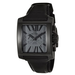 TW Steel Men's 'CEO Goliath' Stainless Steel Black PVD Coated Chronograph Watch