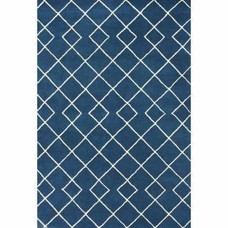 nuLOOM Handmade Modern Trellis Blue Rug (5' x 8')