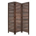 Fortress 3-panel Brown Wood Screen (China)