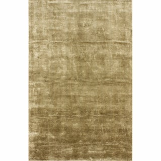 nuLOOM Hand-woven Solid Jute Taupe Rug (5' x 8')