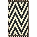 nuLOOM Flatweave Cotton Chevron Black (7' 6 x 9' 6)