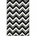 nuLOOM Handmade Modern Black/ White Chevron Rug (5' x 8')