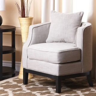 ABBYSON LIVING Eve Beige Fabric Corner Chair
