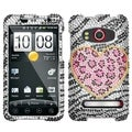 BasAcc Playful Leopard Diamante Phone Case for HTC EVO 4G