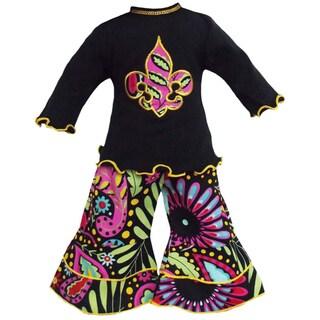 AnnLoren Saints Fleur de Lis Outfit fits American Girl Dolls