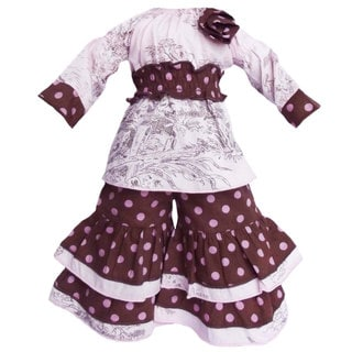 AnnLoren Toile & Dots Shirt/ Pants Outfit fits American Girl Dolls