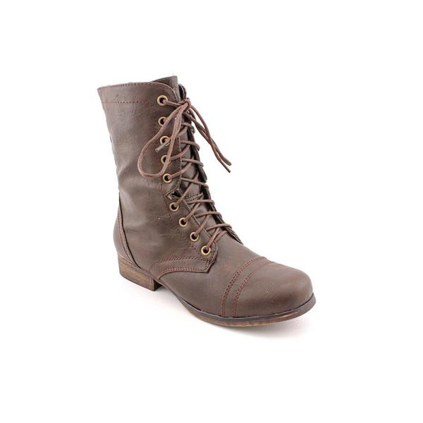 Madden Girl by Steve Madden Women's 'Gamer' Brown Faux-Leather Boots