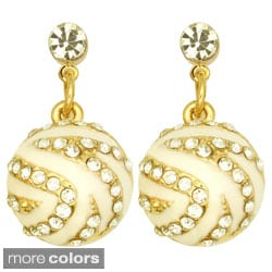 Kate Marie Goldtone Rhinestone Gumball Earrings