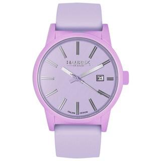 Haurex Italy Women's Compact Aluminum Leather Strap Watch