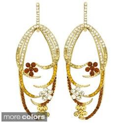 Kate Marie Goldtone or Silvertone Rhinestone Dress Earrings
