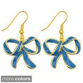 Kate Marie Goldtone Colored Ribbon Fashion Earrings