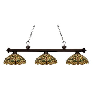 English Ivy 3-light Bronze Billiard Pendant