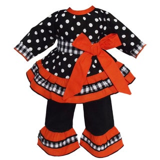 AnnLoren Black & Orange Outfit fits American Girl Dolls