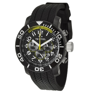 TW Steel Men's 'Grandeur Diver' Stainless Steel Black PVD Coated Chronograph Watch