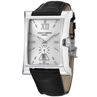 Cuervo Y Sobrinos Men's 2415.1AGL 'Esplendidos Pequenos' Leather Strap Watch