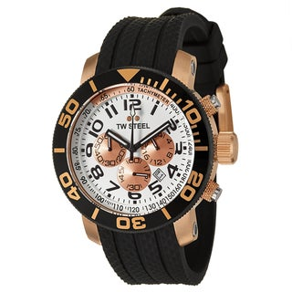 TW Steel Men's 'Grandeur Diver' Rose Goldtone Chronograph Watch
