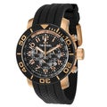 TW Steel Men's 'Grandeur Diver' Japanese Quartz Rose-goldtone Chronograph Watch