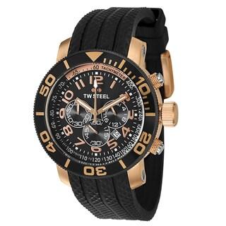 TW Steel Men's 'Grandeur Diver' Japanese Quartz Rose-goldtone Chronograph Watch