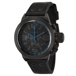 TW Steel Men's 'Canteen' Black/ Blue PVD Coated Chronograph Watch
